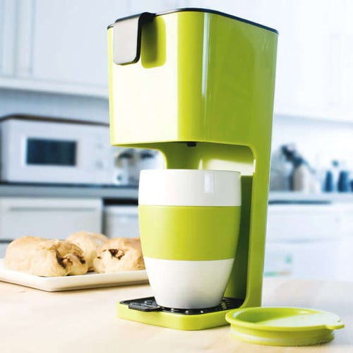 Koziol Unplugged Coffee Maker with Cup – Lime…