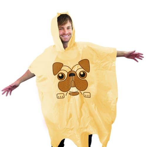 Pug Rain Poncho