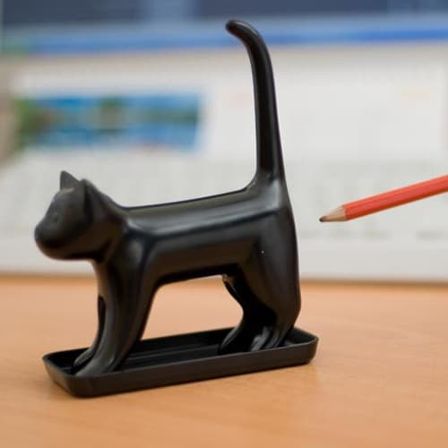 Sharp End Cat Pencil Sharpener - Black
