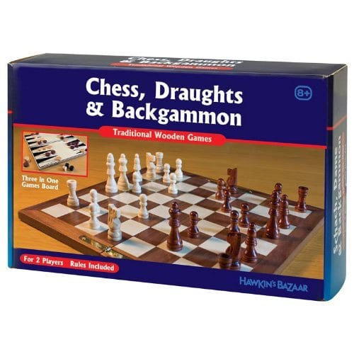 3 In 1 Classic Wooden Games Set