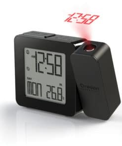 PROJI Projection Clock with Indoor Temperature - Black