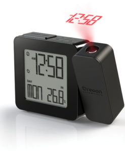 PROJI Projection Clock with Indoor Temperature - Black