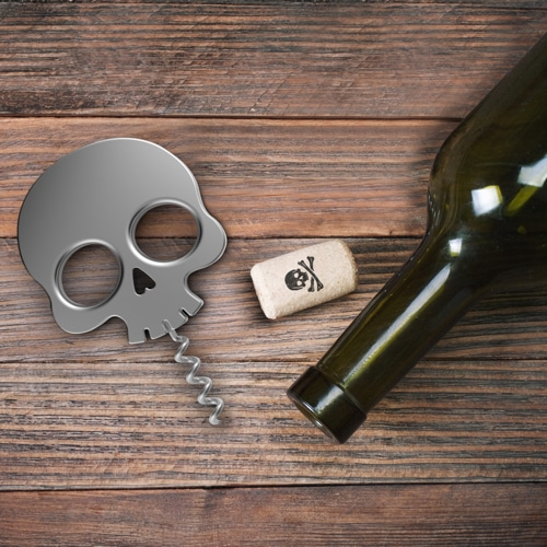 Bar Bones Skull Corkscrew