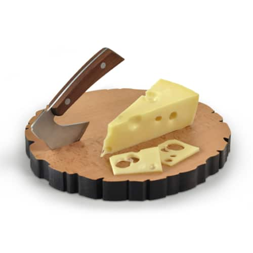 Cheese Log Board And Knife Set