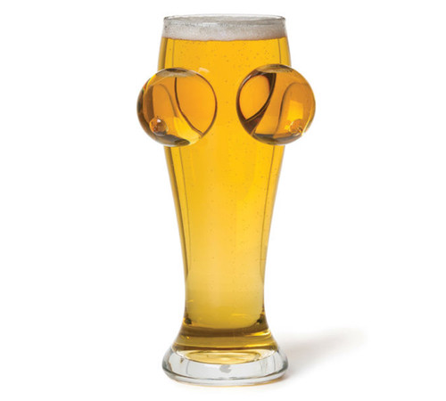 Boobs Pint Glass