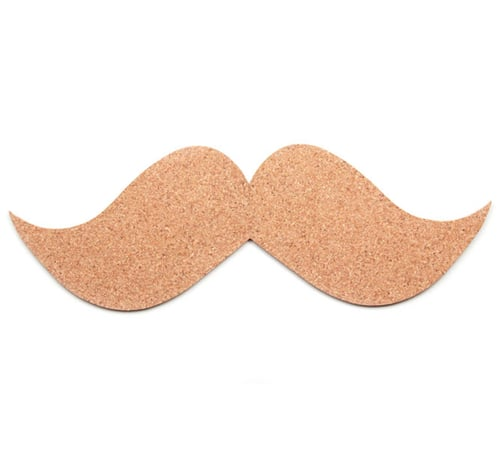 Moustache Cork Board