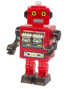 Crystal Puzzle Tin Robot