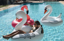 Giant Swan Pool Float