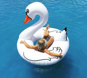 Giant White Swan Pool Float