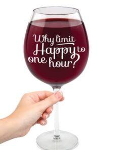 Giant Wine Glass 750ml - Happy Hour