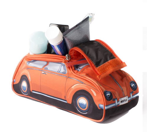 VW Beetle Toiletry Bag – Orange