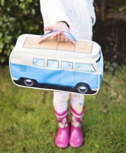 VW Camper Van Lunch Bag - Blue