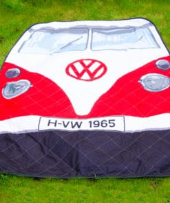 VW Camper Van Picnic Blanket - Red