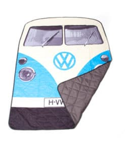 VW Camper Van Picnic Blanket – Blue