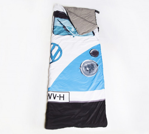 VW Camper Van Sleeping Bag – Blue