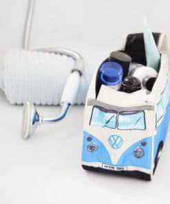 VW Camper Van Toiletry Bag - Blue