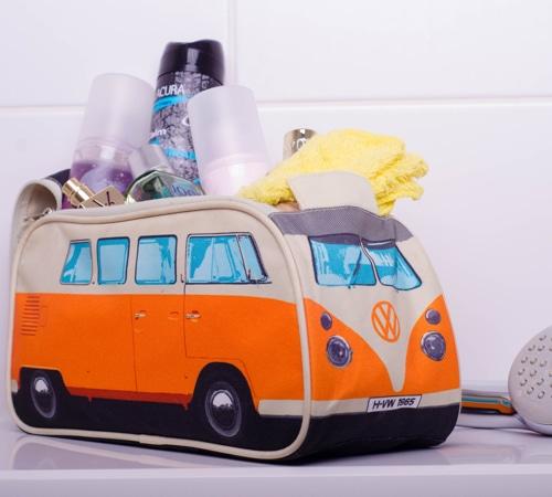 VW Camper Van Toiletry Bag - Orange