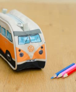 VW Camper Van Pencil Case - Orange