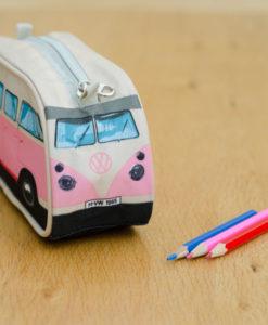 VW Camper Van Pencil Case - Pink