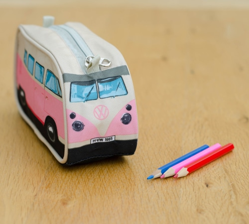 VW Camper Van Pencil Case - Pink