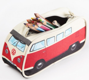 VW Camper Van Pencil Case - Red