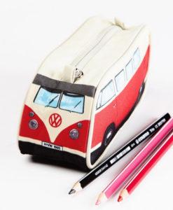 VW Camper Van Pencil Case – Red