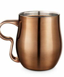 Double Wall Curvy Mug - Brushed Burnt Copper