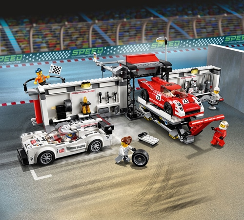 lego speed champions porsche 919 hybrid and 917k pit lane 75876 yuppie gadgets. Black Bedroom Furniture Sets. Home Design Ideas