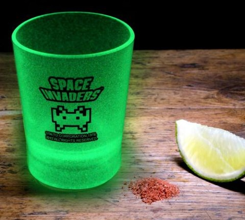 Space Invaders Glow In The Dark Shot Glasses