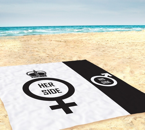 Giant His and Hers Beach Towel