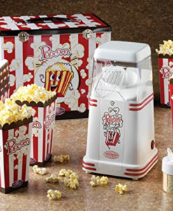 Mini Hot Air Popper with Popcorn Kit – Retro Red
