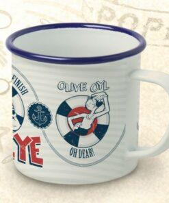 Popeye Enamel Mug