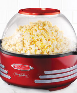 Retro Stirring Popcorn Maker & Nut Roaster