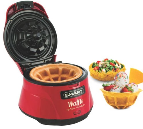 Waffle Bowl Maker – Red