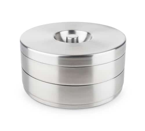 2 Tier Cocktail Rimmer with Stainless Steel Lid