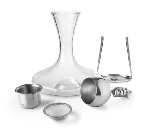 Stainless Steel Twister Aerator and Decanter Set