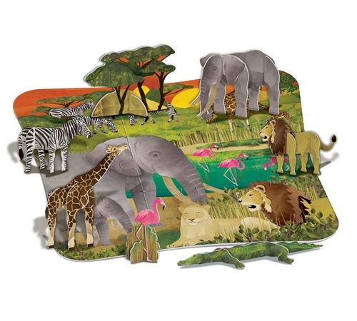 3D Safari Floor Puzzle (4679)
