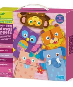 Animal Paper Bag Puppets Kit (4672)