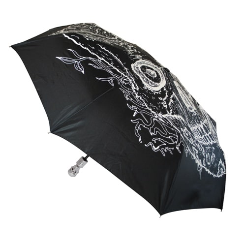 Glow In The Dark Skull Umbrella
