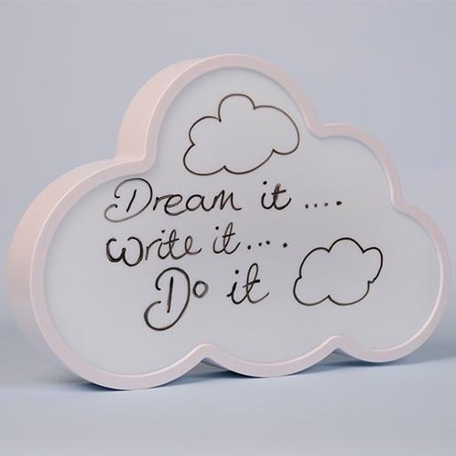 Light Up Cloud Speech Bubble