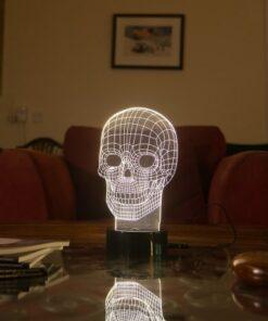 3D Optical Illusion Skull Lamp
