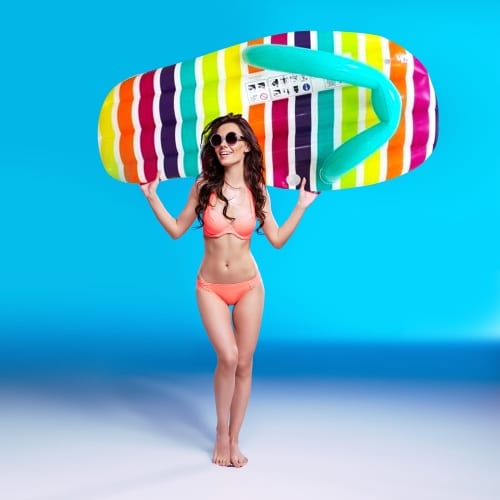Giant Inflatable Flip Flop Lounger - Stripe