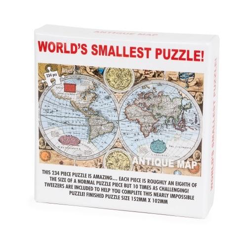 Worlds Smallest Puzzle - Antique Map