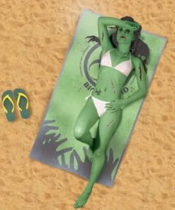 Zombie Infected Beach Towel