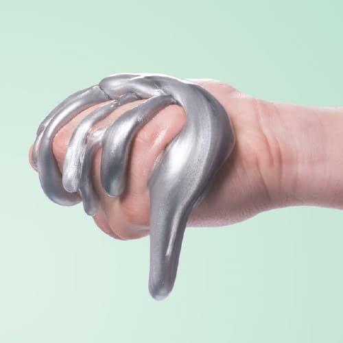 Metallic Silver Super Slime