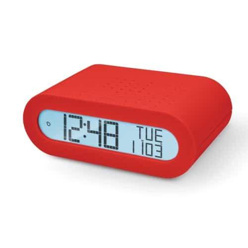 Oregon Scientific Classic Alarm Clock with FM Radio - Red