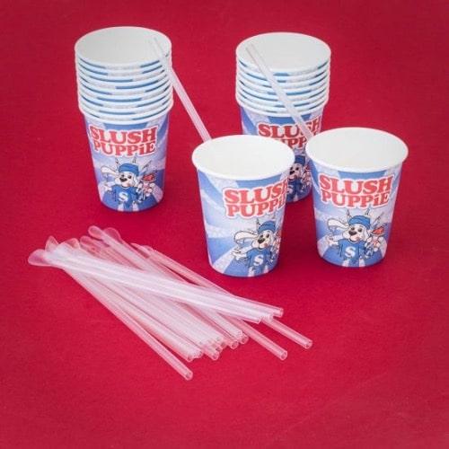 SLUSH PUPPiE Paper Cups and Straws
