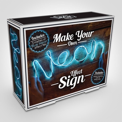 Make Your Own Neon Effect Sign - Blue